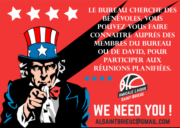 Bénévoles, we need YOU !